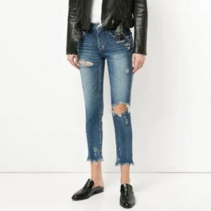 Moussy Isko Comfort Stretch Distressed Jeans